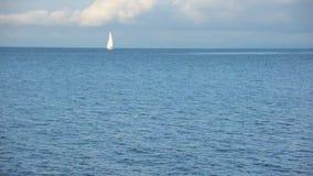 Sail Boat at Geneva lake stock video