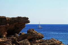Sail boat in Greece Royalty Free Stock Photography