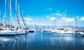 Sail boat harbor Royalty Free Stock Photography