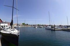 Sail boat at the harbor Stock Photos