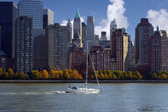 Sail Boat In  NYC Royalty Free Stock Photo