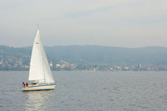 Sail boat on Lake Constance 1 Stock Images