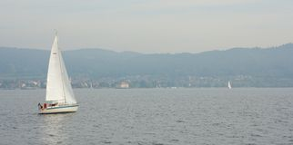 Sail boat on Lake Constance 3 Royalty Free Stock Photo
