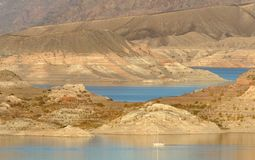 Sail boat on Lake Mead Royalty Free Stock Photography