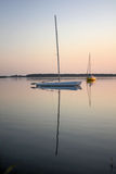 Sail boat on a lake Stock Photo