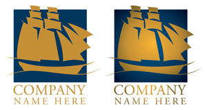 Sail Boat Logo. A sail boat logo icon stock illustration