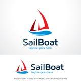 Sail Boat Logo Template Design Vector Stock Image