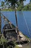 Sail boat on the loire river, france. Stock Photography