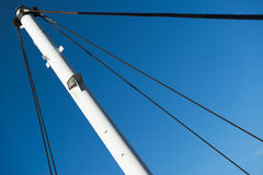 Sail boat mast. Towards a blue sky Royalty Free Stock Images