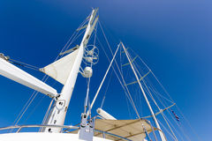 Sail boat mast Royalty Free Stock Images