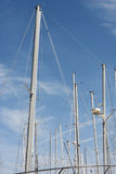Sail Boat Masts Stock Image