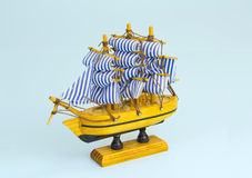 Sail boat model Stock Images