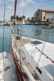 Sail boat moored at Oranjestad Harbor, Aruba Royalty Free Stock Images