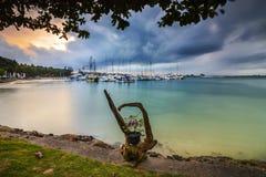 Sail Boat Nongsa Point marina  Wonderfull Batam Indonesia Stock Images