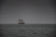 Sail Boat on Ocean Royalty Free Stock Photography