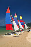 Sail boat on patong beach, phuket, thailand Stock Photography