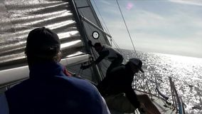 Sail Boat Racing POV 2 - San Diego California stock footage
