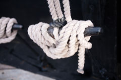 Sail Boat Rigging: Cleat Stock Image