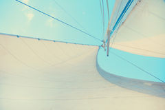 Sail of a boat Stock Images
