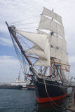 Sail boat in San Diego Stock Image