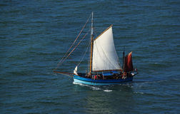 Sail boat on the sea Stock Photography