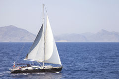 Sail boat on the sea Royalty Free Stock Photos