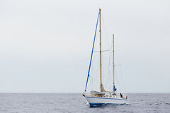 Sail boat in the sea Stock Photography