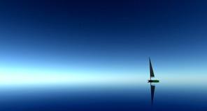 Sail Boat at sea Stock Photography