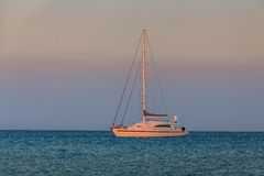 Sail boat on sea Royalty Free Stock Images