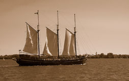Sail Boat (sepia) Royalty Free Stock Photography