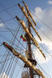 Sail boat with set sails Royalty Free Stock Photo