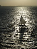 Sail Boat Silhouette Royalty Free Stock Photos