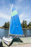 Sail Boat Small Sloop Stock Photos