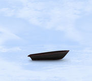 Sail boat stuck in ice Royalty Free Stock Images