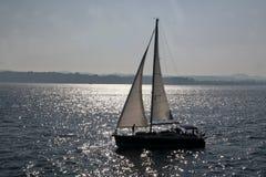 Sail boat. In summer season Royalty Free Stock Image