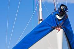 Sail boat and sunny sky (1) Stock Photo