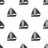 Sail boat, vector seamless pattern Stock Photo