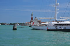 Sail boat in the Venetian lagoon, Venice, Italy Royalty Free Stock Photo