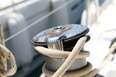 Sail Boat Winch Royalty Free Stock Photos