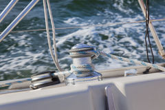 Sail Boat Winch / yachting Royalty Free Stock Image
