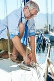 Sail boat yacht mooring royalty free stock photos