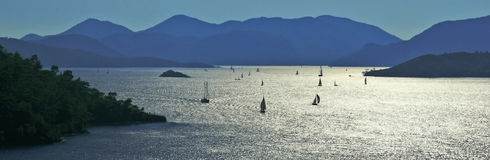 Sail boats at bays of Gocek Stock Photography