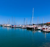 Sail boats with blue sky Stock Photography