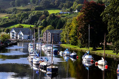 Sail Boats Totnes Devon UK, River Dart Stock Images