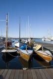 Sail boats docked on Union Lake Royalty Free Stock Image