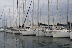 Sail boats in the harbour of Saint Tropez Royalty Free Stock Image