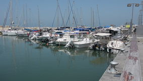 Sail boats at the old port of Jaffa in Tel Aviv Jaffa, Israel stock video footage