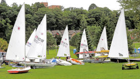 Sail Boats Ready For Race Stock Photo