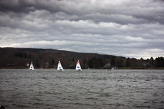 Sail Boats in the Storm Royalty Free Stock Photography
