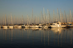 Sail boats and yachts. Royalty Free Stock Photos